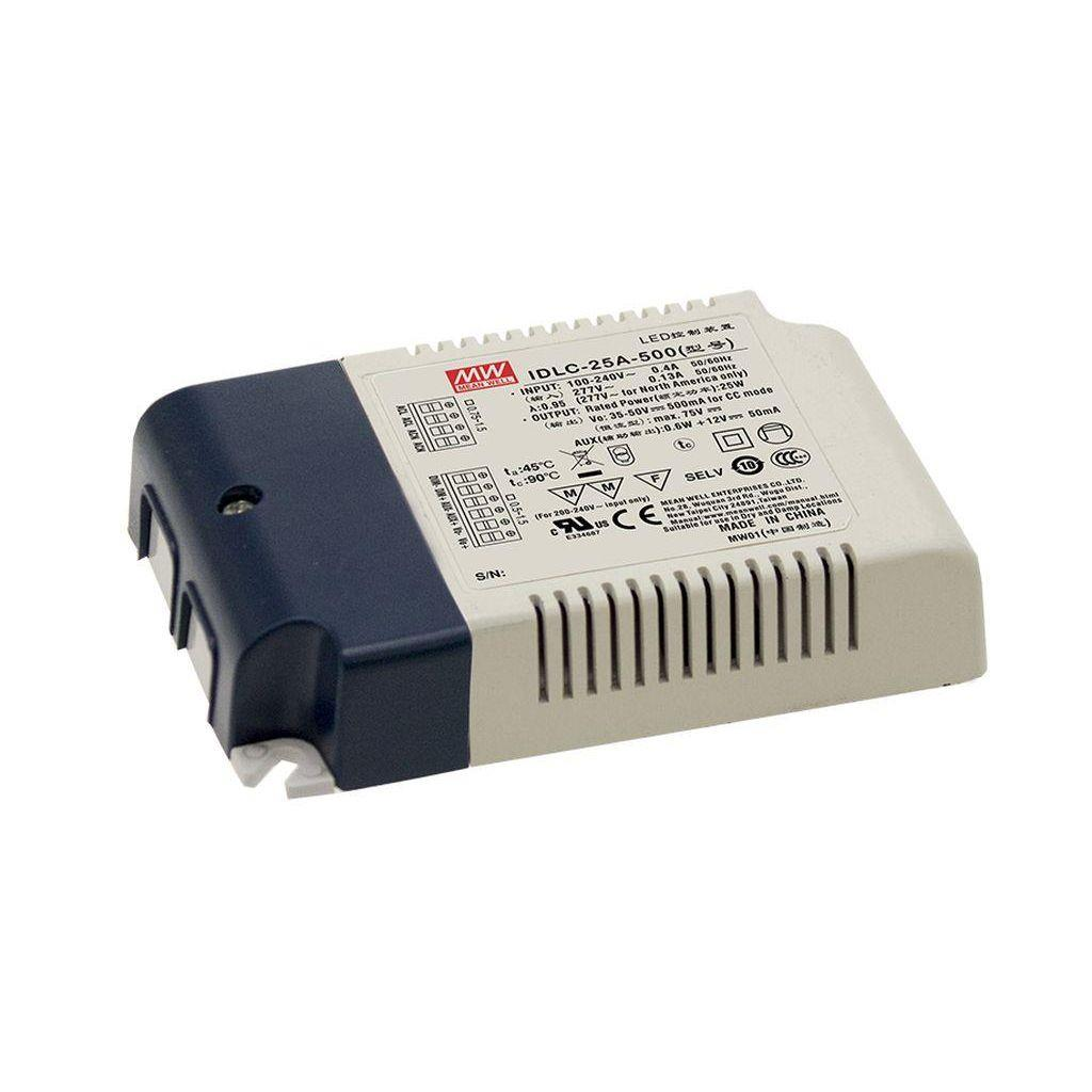 Mean Well IDLC-25A-1050 AC/DC C.C. Box Type - Enclosed 24V 1.05A Power Supply
