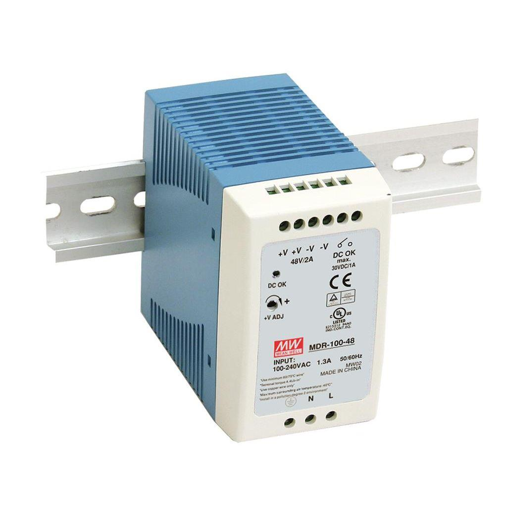 Mean Well MDR-100-48 AC/DC DIN Rail 48V 2A Power Supply