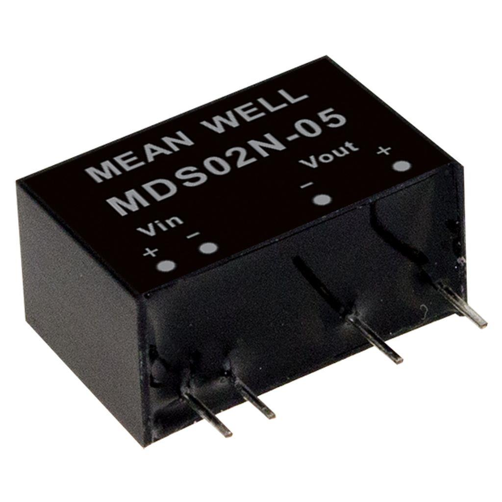 Mean Well MDS02L-05 DC/DC PCB Mount - Through Hole 5V 0.4A medical Converter
