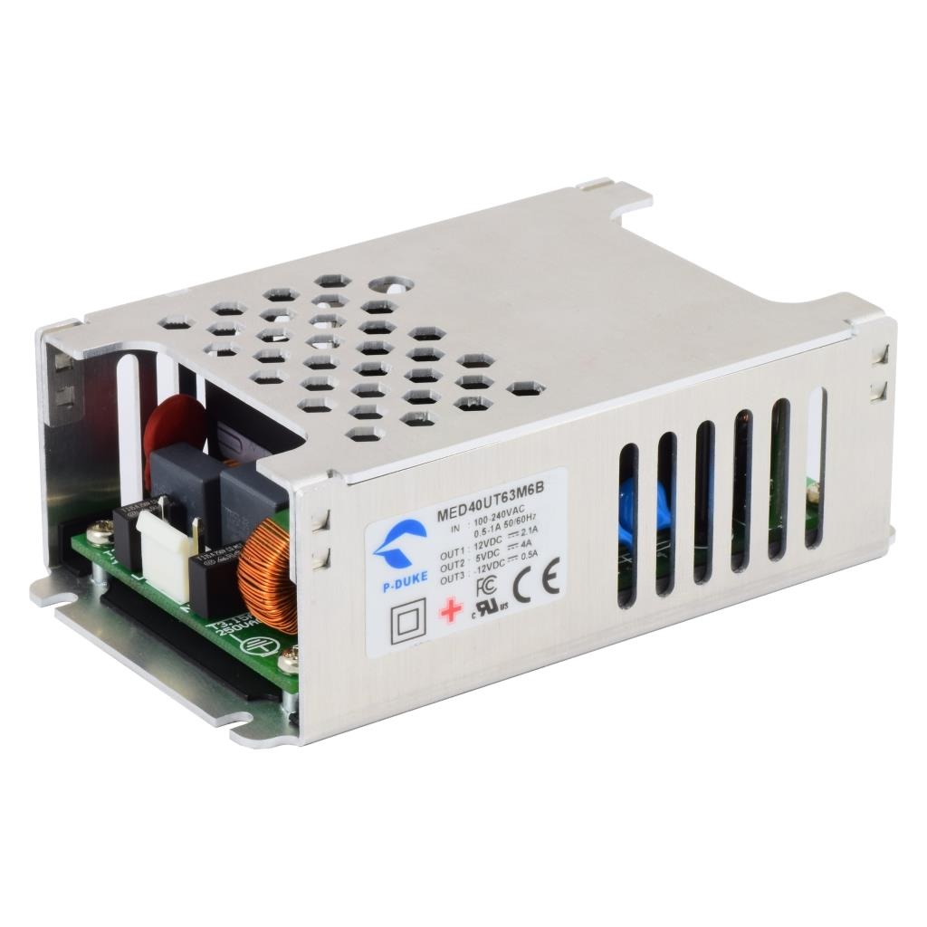P-Duke MED40UT62M6-M AC-DC triple logic power supply with Molex connector