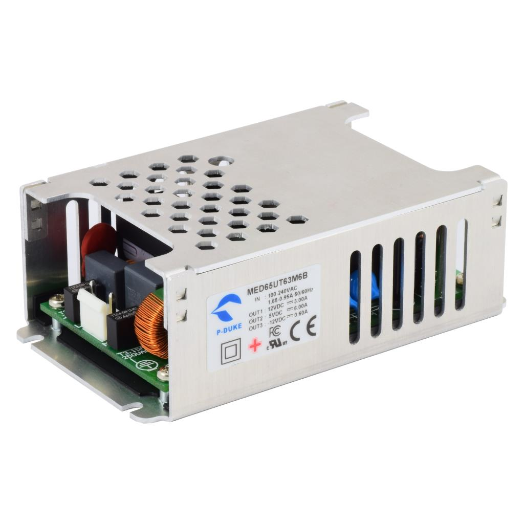 P-Duke MED65UT62M6 AC-DC triple logic power supply with terminal block