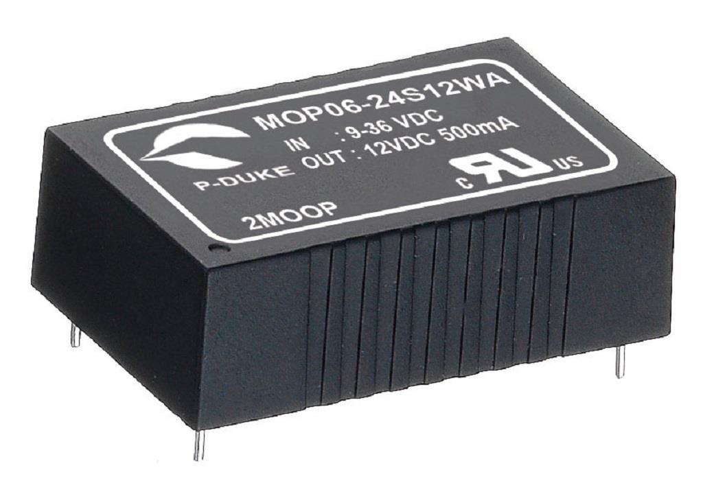 P-Duke MOP06-48D15WB-PT DC-DC converter in DIP package