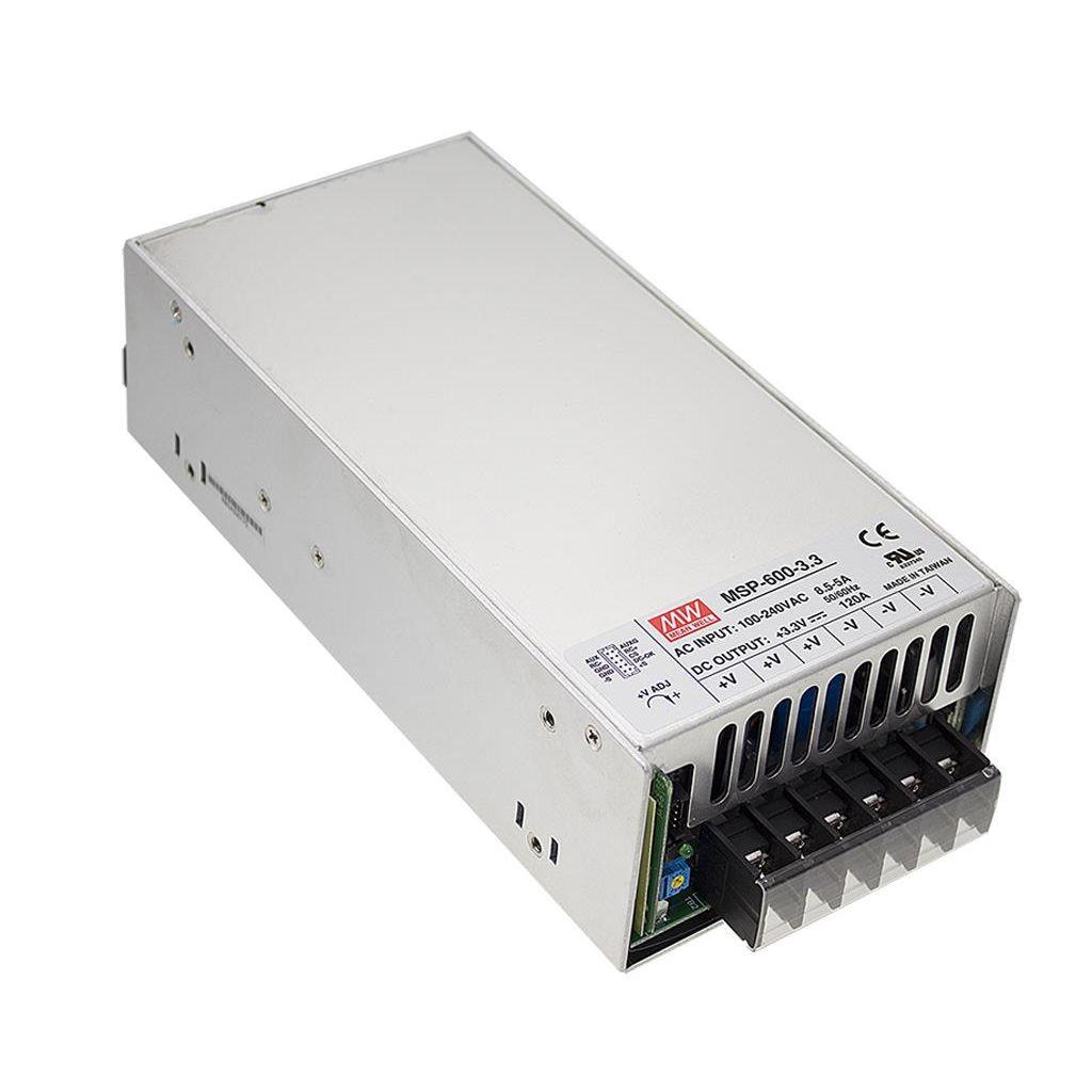 Mean Well MSP-600-7.5 AC/DC Box Type - Enclosed 7.5V 80A Power Supply