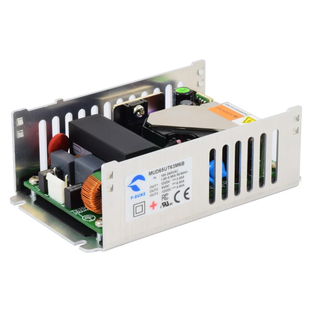 P-Duke MUD65UT63M6B-M AC-DC triple logic power supply with Molex connector