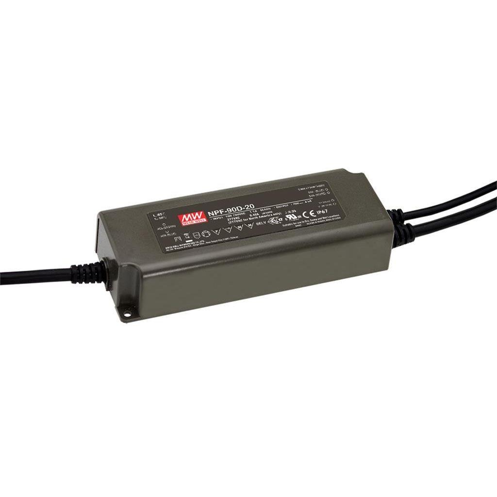 Mean Well NPF-90D-20 AC/DC C.C. Box Type - Enclosed 20V 5A Single output LED driver