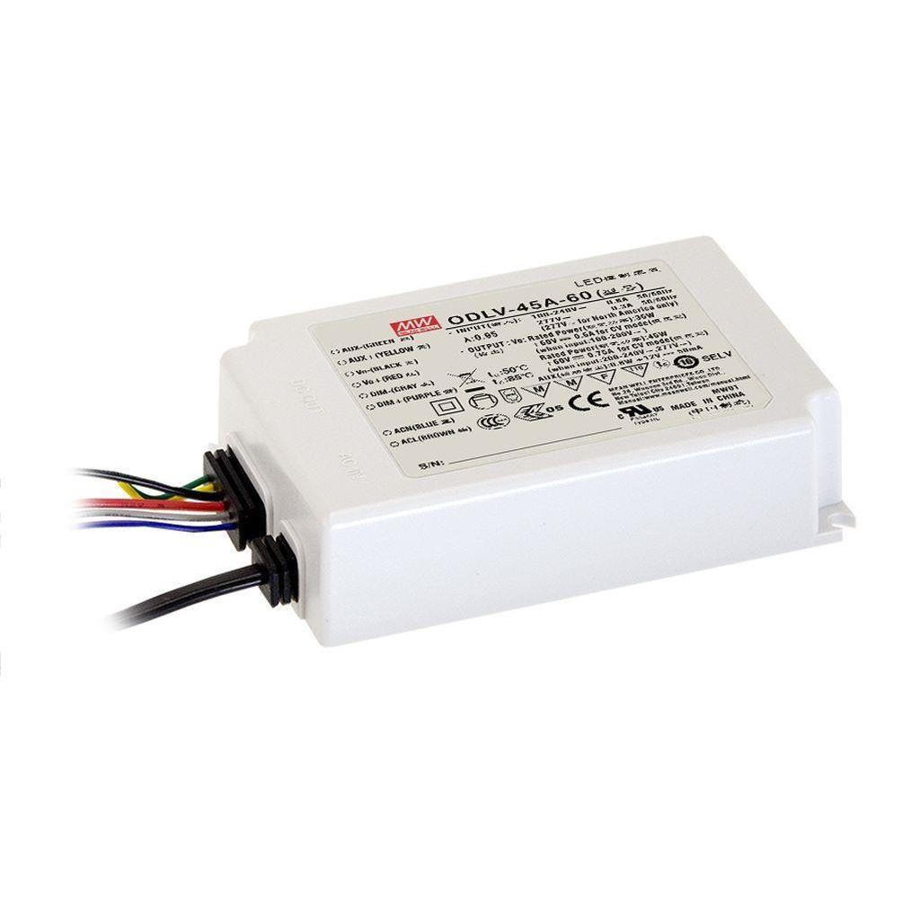 Mean Well ODLV-45-36 AC/DC C.V. Box Type - Enclosed 36V 1.25A LED Driver