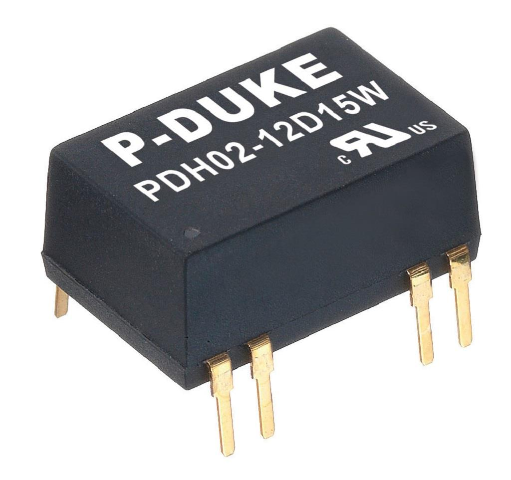 P-Duke PDH02-48D15 DC-DC converter in DIP package