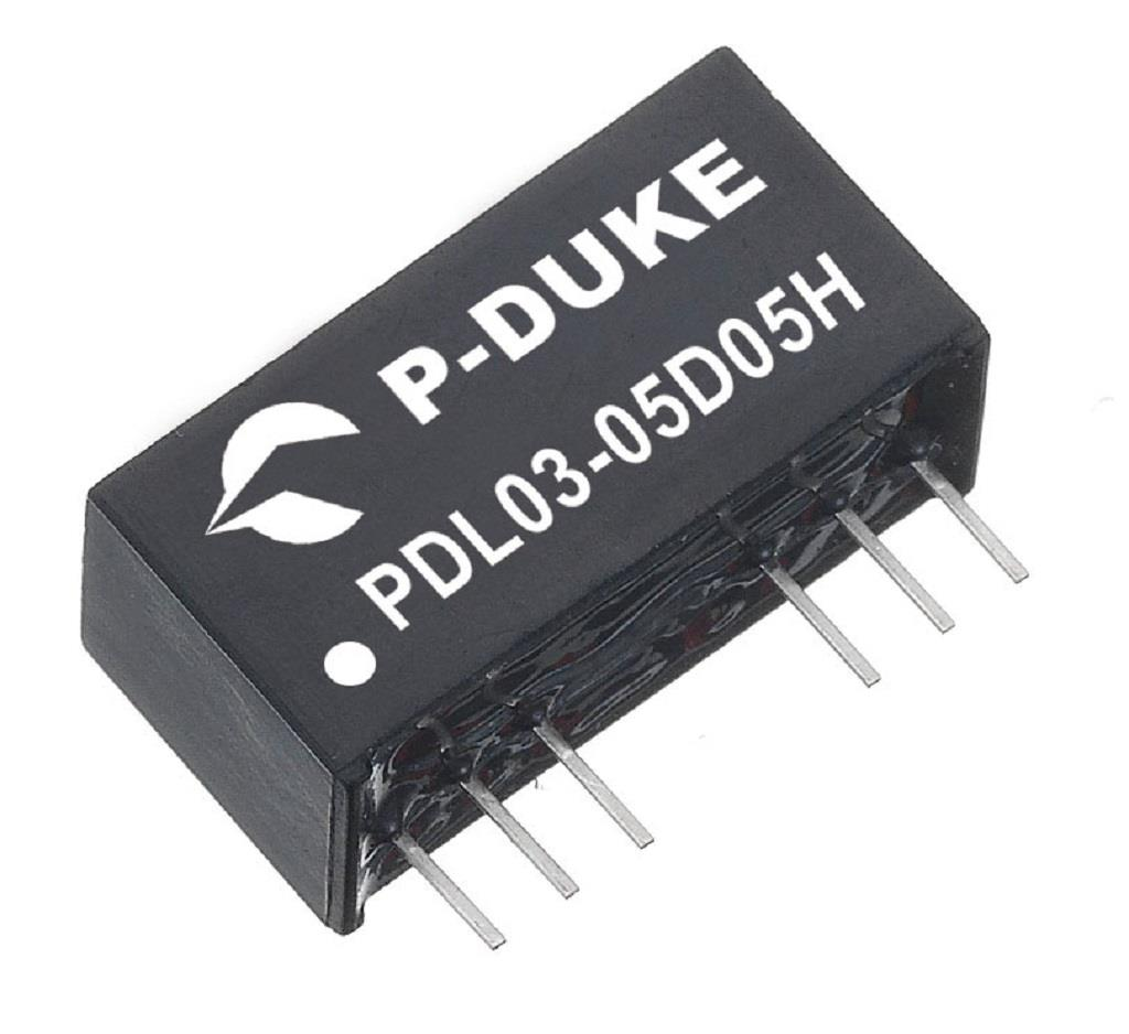 P-Duke PDL03-05S15H DC-DC converter in SIP package
