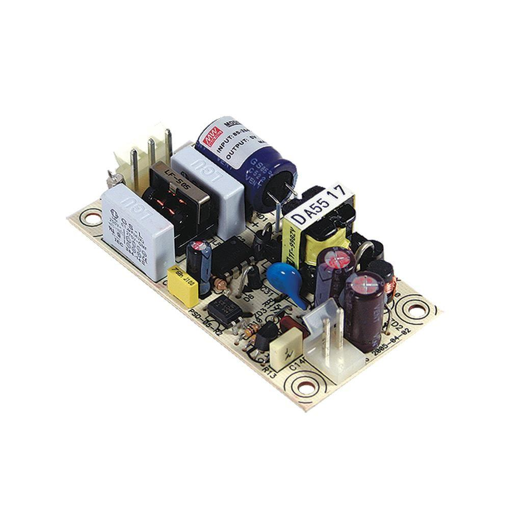 Mean Well PS-05-5 AC/DC Open Frame - PCB 5V 1A Power Supply