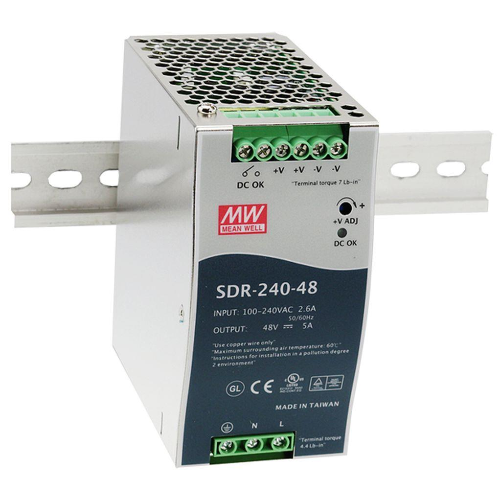 Mean Well SDR-240-24 AC/DC DIN Rail 24V 10A Power Supply