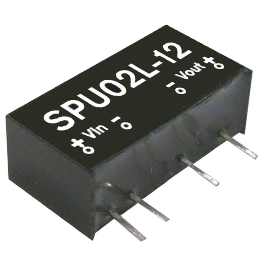 Mean Well SPU02L-12 DC/DC PCB Mount - Through Hole 12V 0.167A Converter