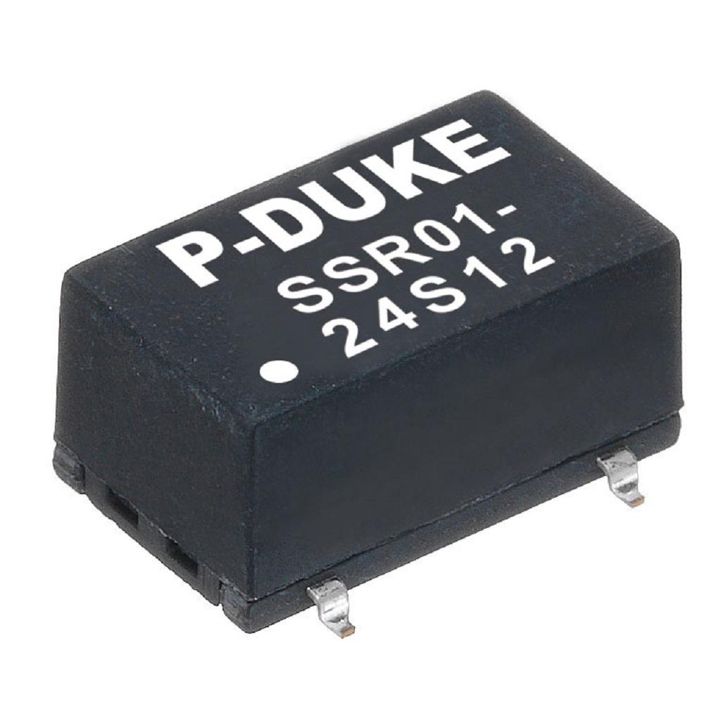 P-Duke SSR01-12S3P3 DC-DC converter in SMD package