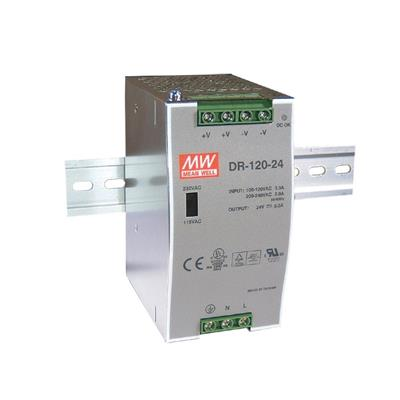 Mean Well DR-120-24 AC/DC DIN Rail 24V 5A Power Supply