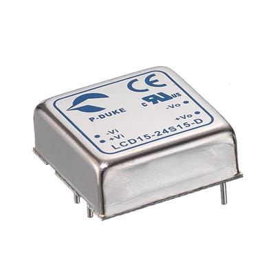 P-Duke LCD15-24D12W DC-DC converter in DIP package