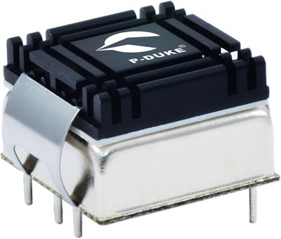 P-Duke LCD20-24S15-AHC DC-DC converter in DIP package with heatsink and clamp