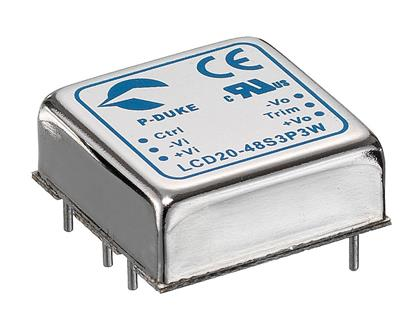 P-Duke LCD20-24S3P3-A DC-DC converter in DIP package