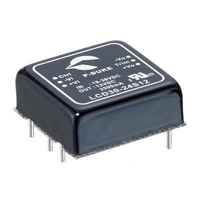 P-Duke LCD30-24S24W DC-DC converter in DIP package