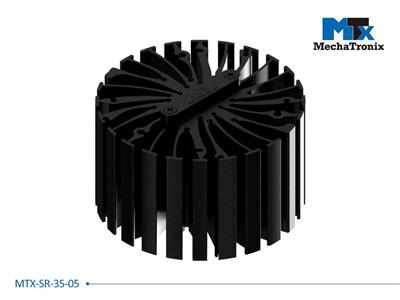 Mechatronix MTX-SR-35-05 Mounting pitch 35mm Zhaga Book 3 cable strain reliefs with cable / wire gap 0.5mm for MTX standard LED Coolers
