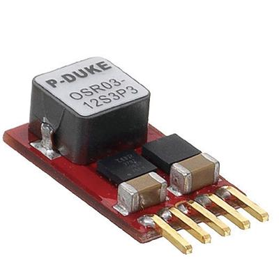 P-Duke OSR03-05S2P5A DC-DC converter in SIP package with vertical mounting