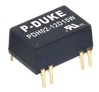 P-Duke PDH02-12S3P3WH DC-DC converter in DIP package