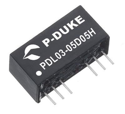 P-Duke PDL03-24D15W DC-DC converter in SIP package