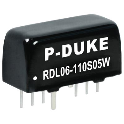 P-Duke RDL06-24S12W-M3 DC/DC PCB Mount - Through Hole 12V 0.5A Converter