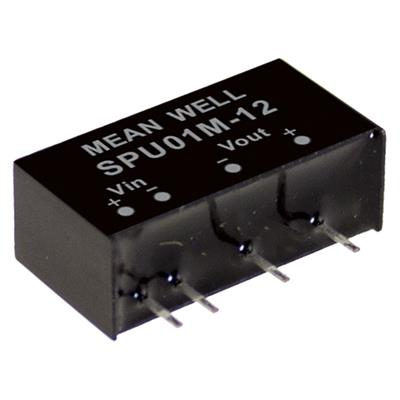 Mean Well SPU01L-12DC/DC PCB Mount - Through Hole 12V 0.084A Converter