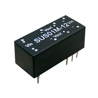 Mean Well SUS01L-15 DC/DC PCB Mount - Through Hole 15V 0.067A Converter