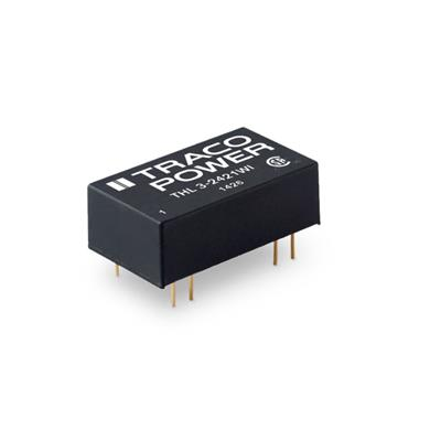 DC-DC Converter PCB mount; Input 9-36Vdc; Output 15Vdc at 0.2A; DIP through hole package; Ultrawide input range; 1500 Vdc I/O isolation; Remote On/Off